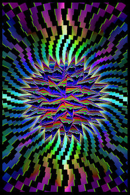 Millennium - Trippy Blacklight Poster - 23X35 Flocked 54069