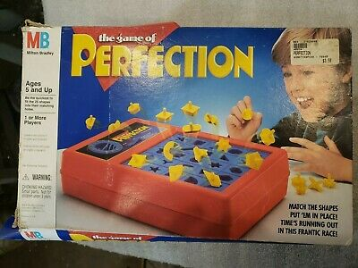 Vintage 1989 Milton Bradley Game Of Perfection 4060 Used TESTED