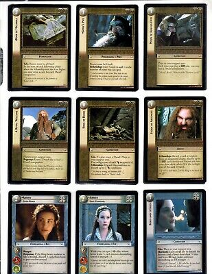 LORD OF THE RINGS LoTR REALM OF THE ELF LORD COMPLETE SET + MORE