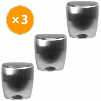 New Best Buy Combo Bbh Set Of 3 Stainless Hand Dryers - Brushed Stainless Steel