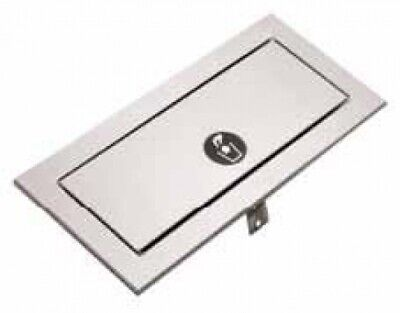 New Bobrick B527 Waste Chute Counter Top With Self Closing Door - Silver 325Mm W