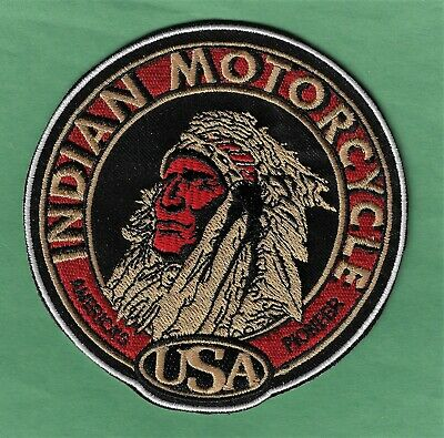 "New Indian Motorcycle American Pioneer 4"" Inch Iron on Patch  Free Shipping"