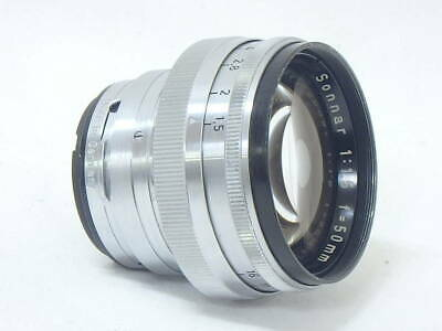 [Near Mint Carl Zeiss Opton Sonnar 50mm F/1.5 Red T for CONTAX Lens From Japan