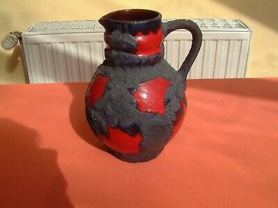 Marei Keramik-Vase Fat Lava Henkel-Krug art pottery germany design