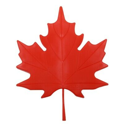1X(Red Plastic Maple Leaf Style Home Decorative Door Stopper Doorstop Z6A6)