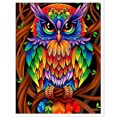 DIY Full Drill Owl 5D Diamond Painting Embroidery Cross Stitch Crafts Home Decor