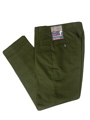 Vtg 60s NOS NWT Levi's Green Permanent Press Pants Drop Loop Cuffs Youth 12