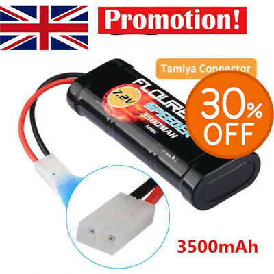 7.2V 3500mAh NiMH 6 Cell Rechargeable RC Battery Pack with Tamiya Plug UK