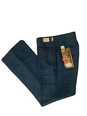 Vtg 60s NOS NWT Levi's Rayon Blend Pants Youth Student 25 X 28