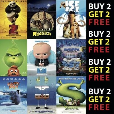 Cartoon & Animation Movie Posters Film Cinema Wall Decor A4 A3 On Metal A Plaque