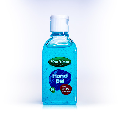 Alcohol Hand Sanitizer Sanitirex Hand Gel 50ml Antibacterial Sanitiser UK Made