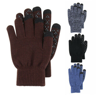 Cycling Winter Gloves Touch Screen Gloves Full Finger Mittens Warm Knit Gloves