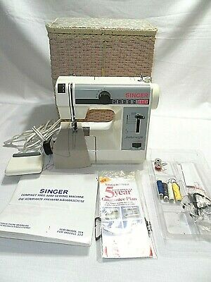 Singer Featherweight Plus Model 324 Electric Compact Sewing Machine & Basket