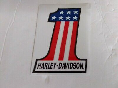 Harley Davidson Motorcycle red,white,blue # 1  vinyl decal stickers
