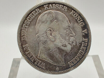 1876 German Empire PRUSSIA 5/ Funf Marks Silver Coin