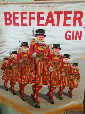 Vintage Beefeater Gin Banner Wall Hanger Advertising