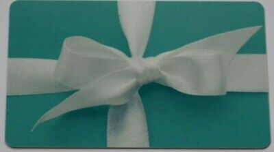 Tiffany & Co Blue Empty Gift Card Collectible or for Craft Used