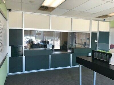 Plexiglass and Steel Safety Security Wall