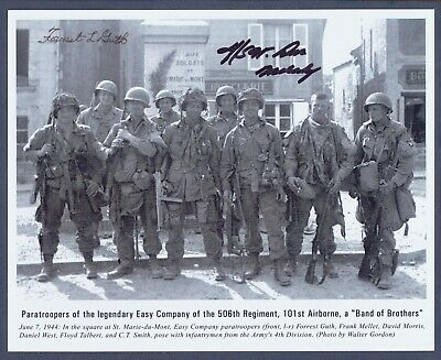Band Of Brothers Signed Photo Don Malarkey Forrest Guth Psa/Dna Autograph Auto
