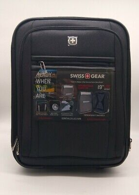 "Swiss Gear Geneva Collection 19"" Wheeled International Carry On Black Brand New"