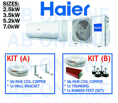 Haier Split System Kit Reverse Cycle Air Conditioniong Copper Bracket Aircon