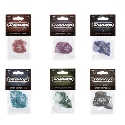 Dunlop Gator Grip Guitar Picks Acoustic Electric 12 PACK - BRAND NEW