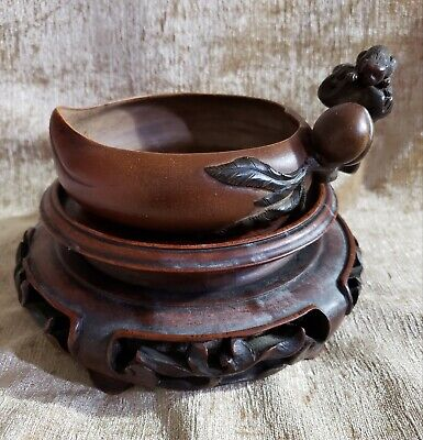 Rare Qing Dynasty Yixing Peach and Monkey Form Water Pot, Signed