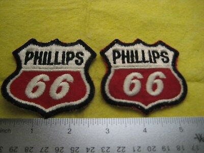 Vintage Set Of 2 Phillips 66 Gasoline Patch