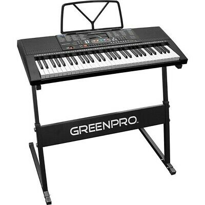 Greenpro 61 Key Portable Electronic Keyboard Led Display With Adjustable Stand A