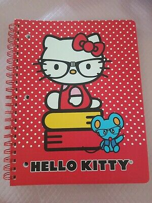 HELLO KITTY BY SANRIO 1 SUBJECT NOTEBOOK/JOURNAL 11x8.5 PERFORATED 3HOLE