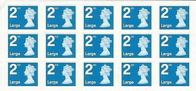 15 x Large Letter 2nd Class Stamps Self Adhesive