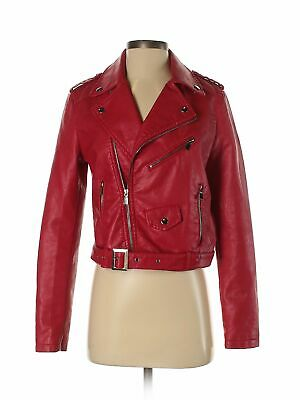 Assorted Brands Women Red Faux Leather Jacket 3