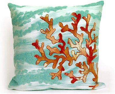 Liora Manne Mystic III Reef Aqua Indoor/Outdoor Pillow