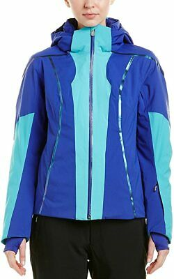 Spyder Women's Project Ski Jacket, Baltic/Blue My Mind, Size 4