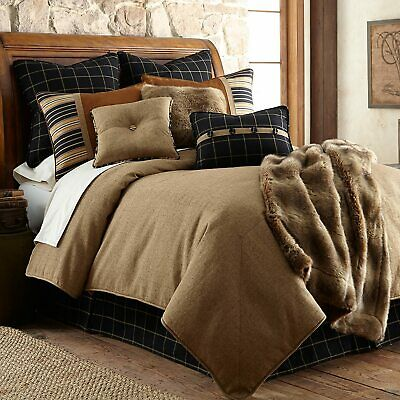 HiEnd Accents Ashbury Comforter Set, King, Brown