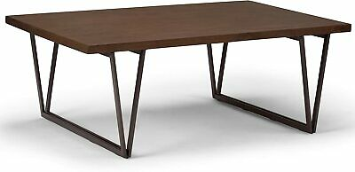 Simpli Home Ryder Solid Wood Metal 50 inch Wide Rectangle Coffee Table