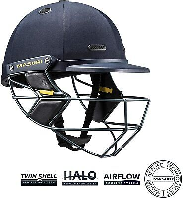 MASURI Cricket Vision Test Series Helmet, Steel Grill - Senior Medium