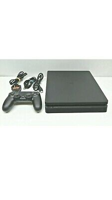 Sony PlayStation 4 500GB Slim Console - Jet Black With Games And Controller