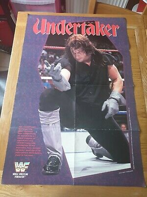 Vintage WWF double Sided Poster Undertaker