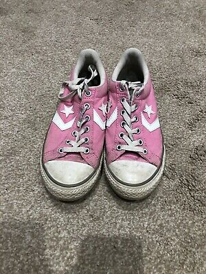 Ladies Girls Pink Converse All Star Size 3