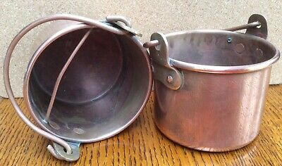 Pair of victorian (or maybe Edwardian) Paint Pots / Canisters