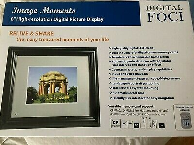 Image Moments Eight High Resolution Digital Picture Display By Foci