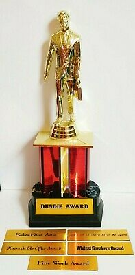 The Office Dundie Award Trophy changeable Messages Whitest Shoes Dundy TV Show