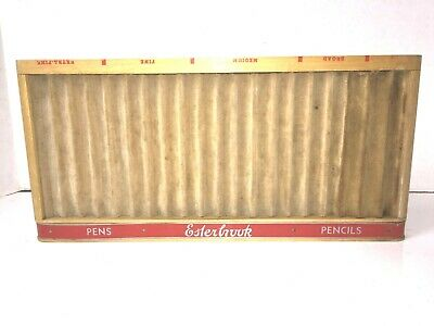 Esterbrook Pencil PEN TRAY Store Display Stand Holder Vintage Writing Advertisin