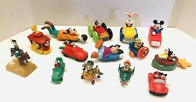 Vtg Lot Of 14 Mini Wind Up Pull Back Disney Mickey and Friends BK Mixed Toys