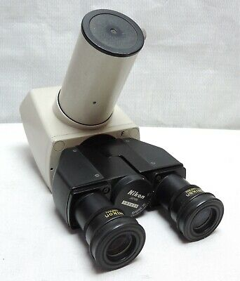 Nikon Labophot Optiphot Alphaphot Microscope F Trinocular Head with Eyepieces