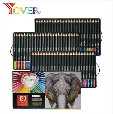 120 colored pencils drawing set