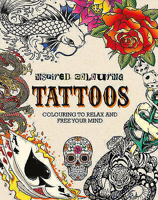Adult Colouring - Tattoos (Inspired Colouring), Parragon, Excellent Book