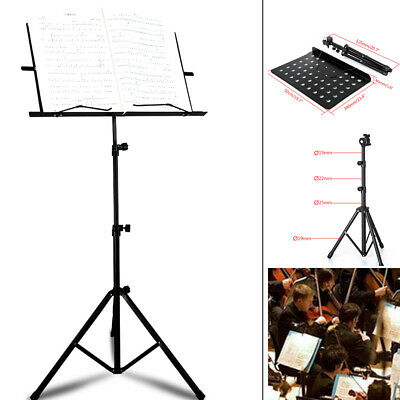 New Heavy Duty Orchestral Sheet Music Conductor Stand Foldable Holder Base UK