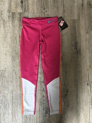 Nike Girls Legging Pink orange stripe,